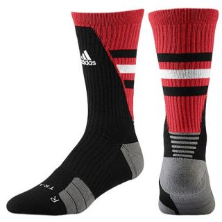 adidas Team Speed Traxion Crew Socks   Basketball   Accessories   Black/University Red/White