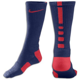 Nike Elite Basketball Crew Socks   Mens   Basketball   Accessories   College Navy/University Red