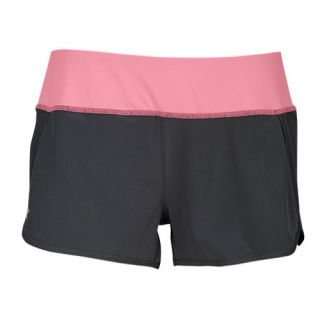 Under Armour Heatgear 3 Stretch Woven Shorts   Womens   Running   Clothing   Graphite/Fluo Pink
