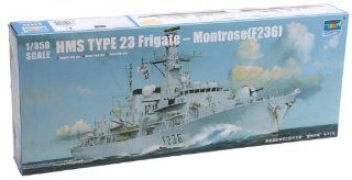 Trumpeter F 236 Type 23 HMS Montrose Frigate Ship Model Kit, Scale 1/350 Toys & Games