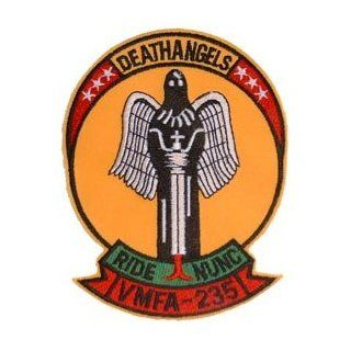 USMC Marine Corps Military Embroidered Iron On Patch   Death Angels Ride NUNC VMFA 235 Applique Clothing