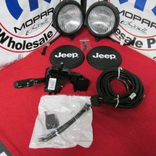 2003 2006 Jeep Wrangler Tj Fog Light Lamp Kit, OEM Mopar Genuine Automotive