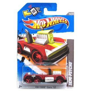 Hot Wheels HW Code Cars '12 16/22 Semi Psycho Collector #241/247 on Scan and Track Card