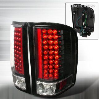 2007 2011 Chevy Silverado Led Tail Lights Black Automotive
