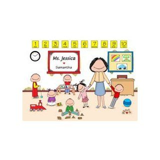 Personalized Daycare/Preschool Teacher Cartoon Picture Gift   Home Decor Products