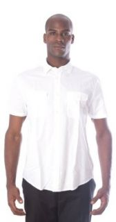 John Varvatos U.S.A. Mens Casual Shirt White Sz L W243J1B 24AZ at  Men�s Clothing store