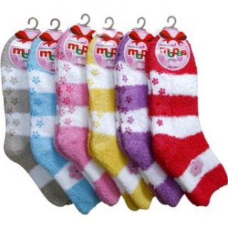 247 Frenzy 12 Pack Women's Non Skid Fuzzy Winter Socks (9   11) Clothing