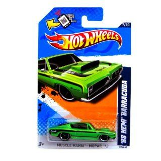 2012 Hot Wheels Muscle Mania   Mopar '68 Hemi Barracuda Green #87/247 Toys & Games