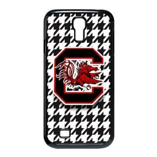 Houndstooth Background NCAA South Carolina Gamecocks Samsung Galaxy S4 I9500 Waterproof Back Cases Covers Cell Phones & Accessories