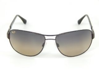 New Maui Jim Sand Island HS253 25A Gloss Dark Brown/HCL Bronze Polarized Sunglasses Clothing