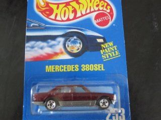 Mercedes 380SEL all Blue Card Hot Wheels #253 Purple with 5 Spoke Wheels Toys & Games