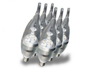 E5 lighting 6/pack E12 260lm 3w 6000k Cool White 85 245v Led Candelabra