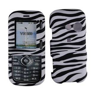 For LG Cosmos VN250 / LX265 Rumor 2 Accessory   white black zebra Design Hard Case Proctor Cover + Lf Stylus Pen Cell Phones & Accessories
