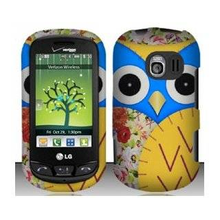 3 Items Combo For LG Extrovert VN271 (Verizon) Yellow Owl Design Hard Case Snap On Protector Cover + Free Opening Tool + Free American Flag Pin Cell Phones & Accessories