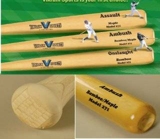 Brand NEW 2014 Ambush Bamboo / Maple Hybrid Adult Baseball Bat (Model 271) 34 Inch 31 Oz ( 3) by Vikram Sports at Factory Direct Price  Sports & Outdoors
