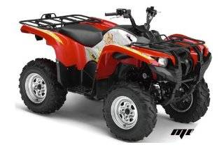AMR Racing Yamaha Grizzly 700 ATV Quad Graphic Kit   Motorhead Mandy White Automotive