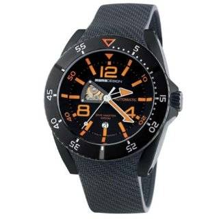Momo Design DIVE MASTER AUTOMATICO MD279BK 03BKOR RB 48mm Automatic Stainless Steel Case Black Rubber Anti Reflective Sapphire Men's Watch Watches