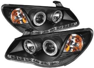 Spyder Auto (PRO YD HYELAN07 DRL BK) Hyundai Elantra Black Halo Projector Headlight with LED Daytime Running Light Automotive