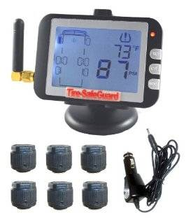 6 Tire RV/Truck Cap Sensor Tire Pressure Monitoring System (TPMS) Automotive