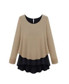 Cool2day Girls Korea Style Chiffon Knitwear Pullover Sweater Jumper (Model Yf010182) (US 7 16, Gray) Clothing