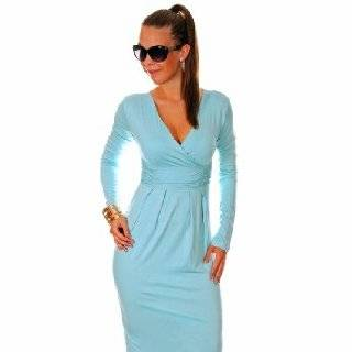 Glamour Empire Womens Sexy Long Sleeve Stretchy Jersey Dress 285 Clothing
