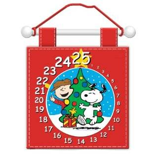 Club Pack of 12 Peanuts Snoopy & Charlie Brown Plush Christmas Advent Calendars   Christmas Decor