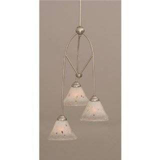 Contempo 3 Light Mini Pendant in Chrome Finish w Frosted Crystal Glass   Ceiling Pendant Fixtures