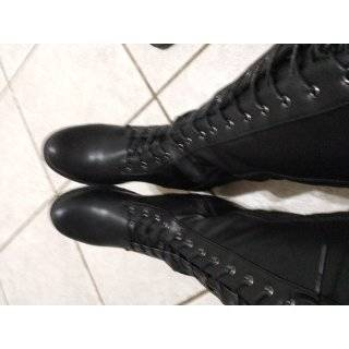 Lug 30 Womens Knee High Military Lace up Combat Boot Black 8.5 Shoes