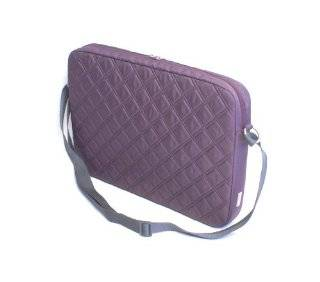 "Genuine Belkin Crossroads F8N295 091 16"" Inch Plum Quilted Laptop Notebook Carrying Case Satchel Shoulder Bag Toploader With Plush Inner Lining To Protect Laptop/Notebook Screens Monitors From Scratches, Fits Most Laptop Notebooks With Up to a 16"""