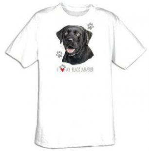 I Love My Black Labrador   Lab Dog T shirt Clothing