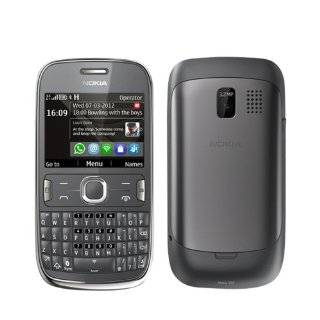 Nokia Asha 302 Gray WiFi Keyboard Unlocked QuadBand 3G Cell Phone Cell Phones & Accessories