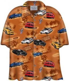 Ford Mustang Boss 302 Cars Camp Hawaiian Shirt Clothing