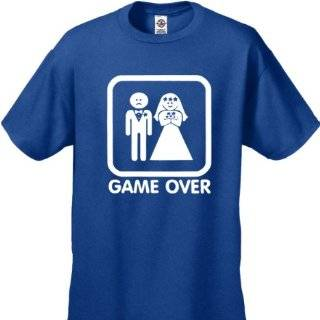 BeWild Brand Funny T Shirts   Game Over Mens T Shirt #307 Clothing