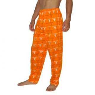 Mens NCAA Tennessee Volunteers Cotton Sleepwear / Pajama Pants   Orange & White (Size S) Clothing