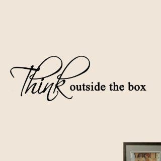 Think Outside the Box Wall Quote Decals Office Wall Art Creative Sticker   Wall Decor Stickers