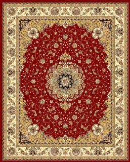 Safavieh Lyndhurst Collection LNH329C Red and Ivory Round Area Rug, 8 Feet   Runners