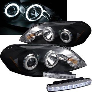 2006 2011 Chevy Impla Ccfl Halo Projector Headlights + 8 Led Fog Bumper Light Automotive