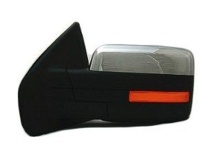 DRIVER SIDE DOOR MIRROR Ford F 150, Ford F 250, Ford F 350, Ford F 450 POWER WITH HEATED GLASS; CHROME; WITH MEMORY AND TURN SIGNAL; WITHOUT AUTO DIMMING GLASS; WITHOUT PUDDLE Automotive
