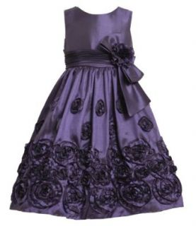 Bonnie Jean TWEEN GIRLS 7 16 BONAZ BORDER Special Occasion Flower Girl Holiday Pageant Party Dress (16, Purple) Clothing