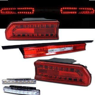 2008 2010 DODGE CHALLENGER REAR BRAKE TAIL LIGHTS RED/CLREAR+LED BUMPER RUNNING Automotive