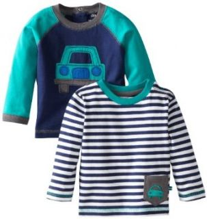 Little Me Baby boys Infant Car 2 Pocket Top, Navy Multi, 24 Months Clothing
