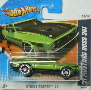 Hot Wheels Street Beasts '11 10/10 '71 Mustang Boss 351 on Short Card