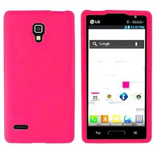 CoverON Soft Silicone HOT PINK Skin Cover Case for LG P769 OPTIMUS L9 TMOBILE [WCA351] Cell Phones & Accessories