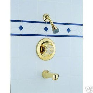 Delta 642 PB Polished Brass Tub & Shower Faucet