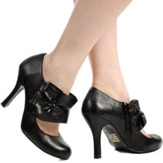 Girl353 Round Toe Mary Jane BLACK Shoes