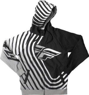 Fly Racing Sonar Hoody , Distinct Name Black/White, Primary Color Black, Size XL, Gender Mens/Unisex 354 0110X Automotive