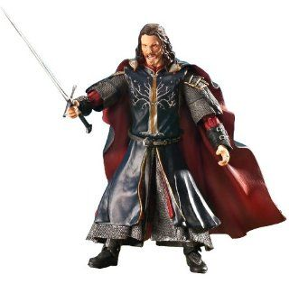 "The Lord of the Rings   Return of the King Super Poseable Aragorn with Anduril 6"" Action figure Toys & Games"