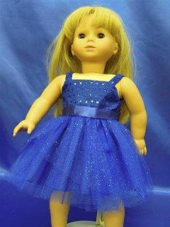 "Blue Sparkling Dress with Short Skirt Hawaiian Luau Style Party Summer Beach Spring Dress Doll Clothes Outfit Fits American Girl 18"" Doll Kanani Marie grace C�cile Toys & Games"