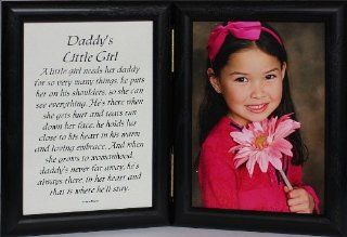 5x7 Hinged Daddy's Little Girl Picture & Poem Photo Frame ~ A Wonderful Gift Idea for a New Father, Father's Day, Valentines Day, Birthday or Christmas Gift   Double Frames