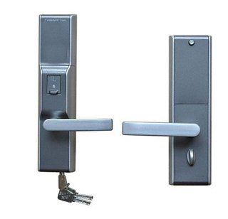 Fingerprint Door Lock with Unique Super wide LCD Display and Deadbolt   Door Levers